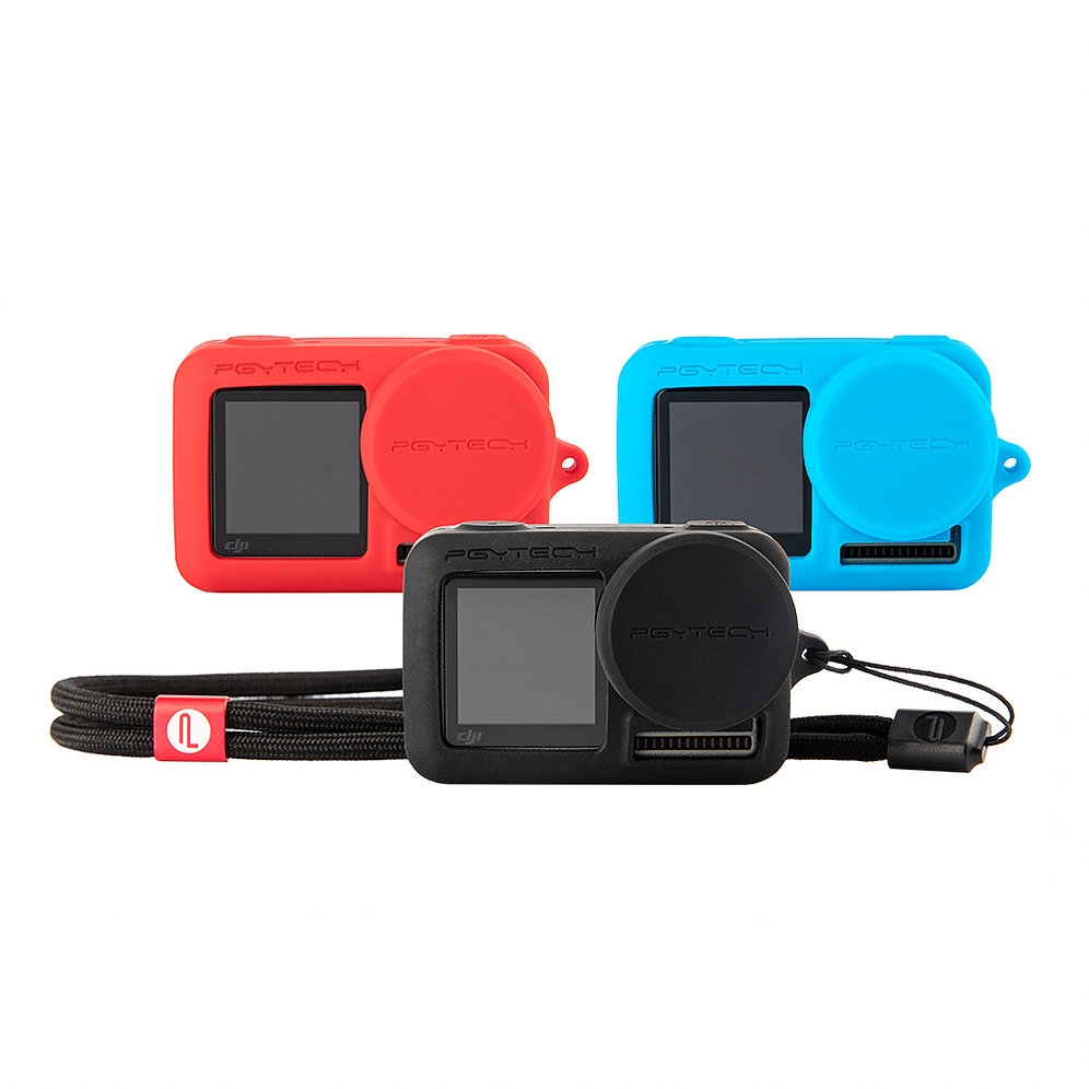 PGYTECH OSMO Action Camera Silicone Rubber Case Protective Housing Shell Black/Red/Blue for DJI Cam