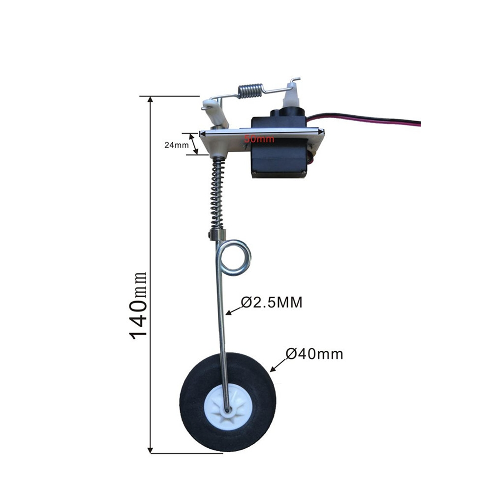 Universal Damping Landing Gear Front wheel for RC Airplane Fixed-wing Aircraft