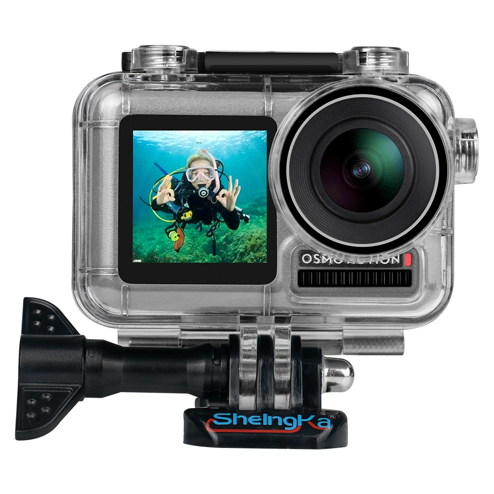 SheIngka 40M Camera Waterproof Protective Case Diving Shell for DJI Osmo Action Camera
