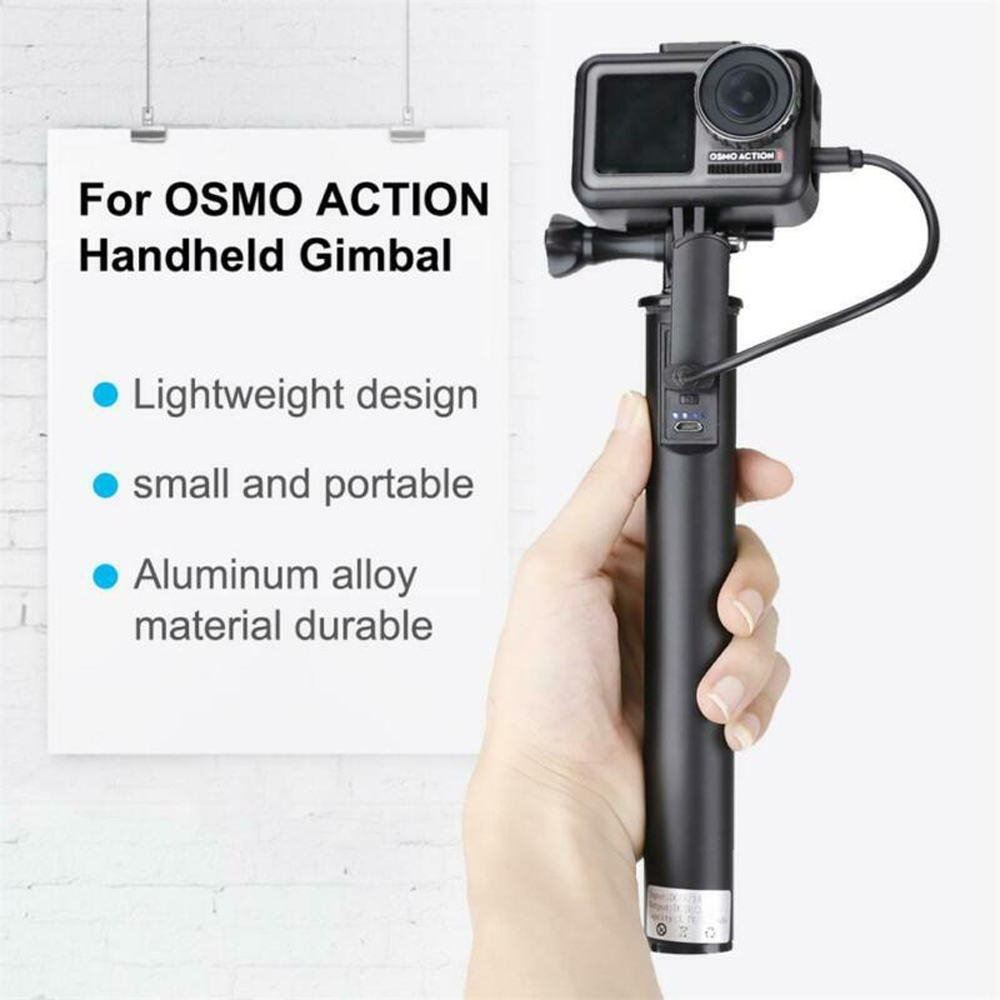 Fast Charging Extension Rod Stick Handheld Gimbal Adapter 1/4 inch for DJI Osmo Action Camera