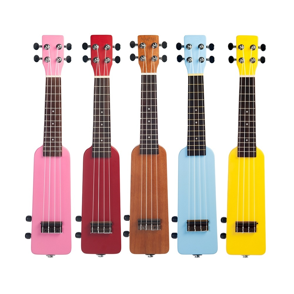 NAOMI 21 Inch Bottle Design 4 String Solid Wood Okoume Electronic Ukulele for Beginners