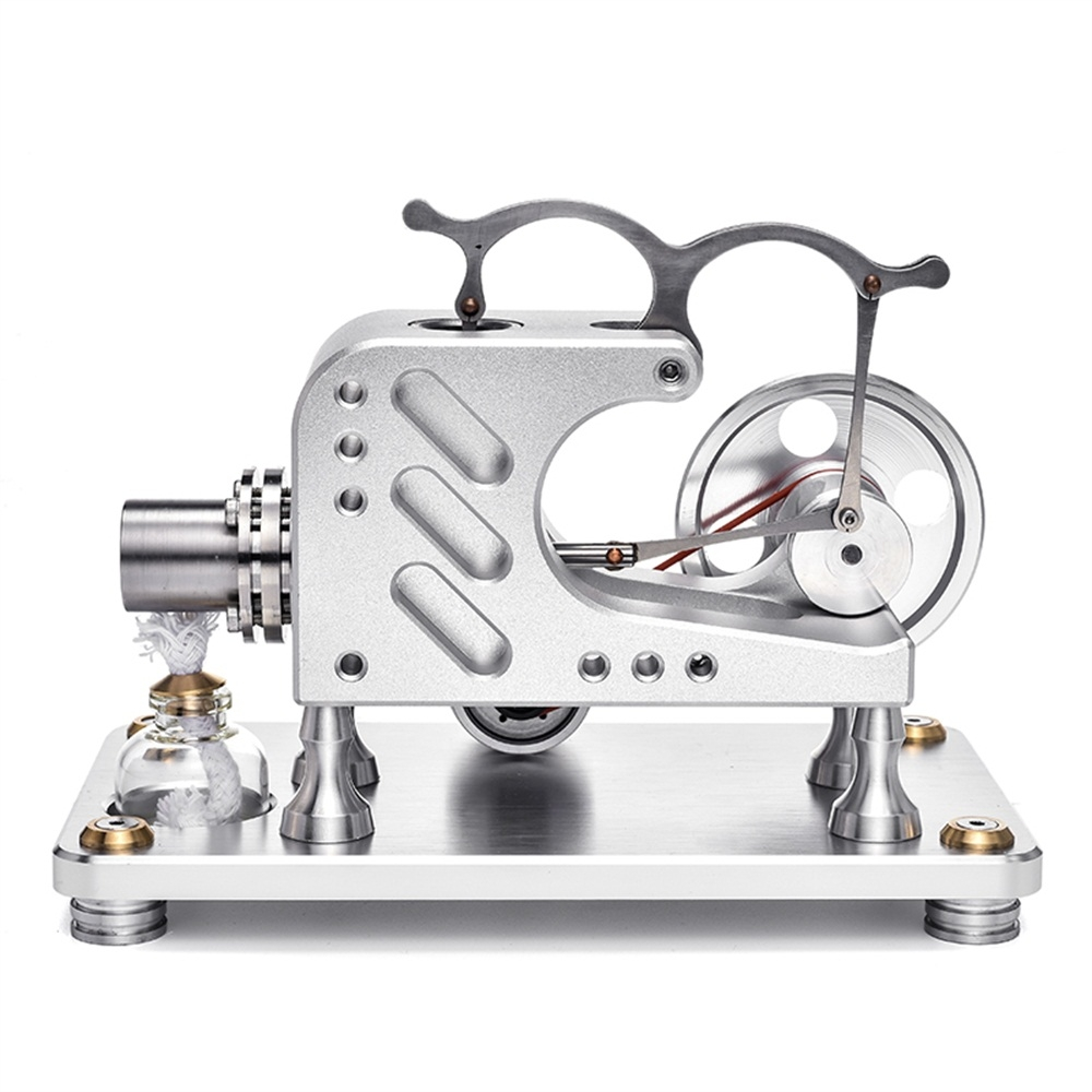 T16-03 Balance Metal Cylinder External Combustion Stirling Engine Model Educational Toy