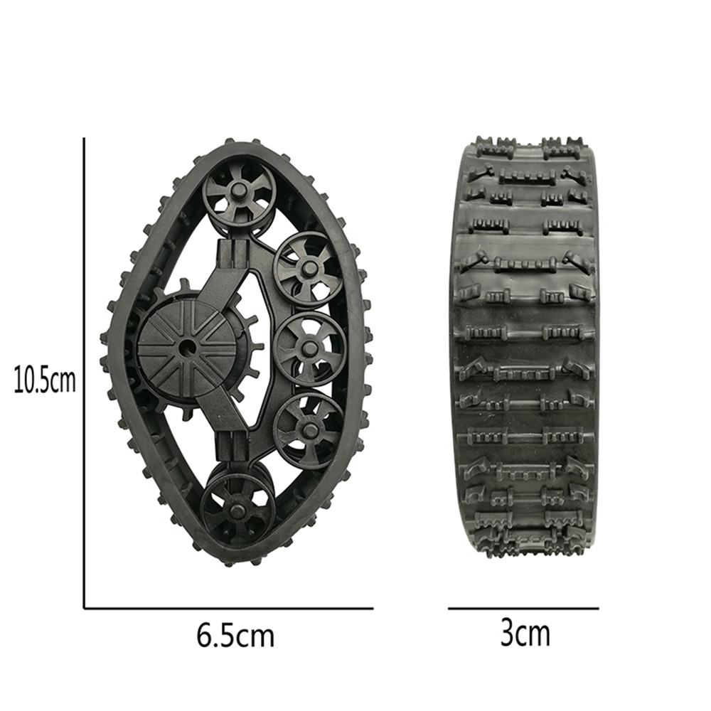 4PCS RC Car Snow Track Wheel for WPL B14 B24 C14 C24 Fayee FY001 FY002 FY003 FY004 1/16 Truck