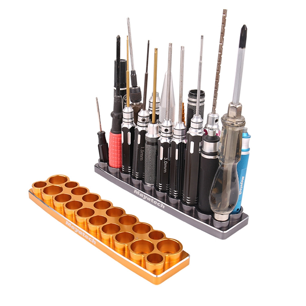 Mayatech CNC Tool Placement Base Screwdriver Holder Settle up to 20 tools Aluminum Alloy Tool Tray / Socket