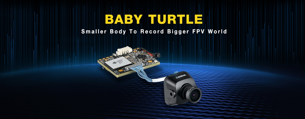 Caddx Baby Turtle 800TVL NTSC/PAL 16:9/4:3 Switchable FOV 170 Degree 1.8mm 7G Glass Lens Super WDR FPV Camera HD Recording DVR Audio OSD for FPV Racing Drone