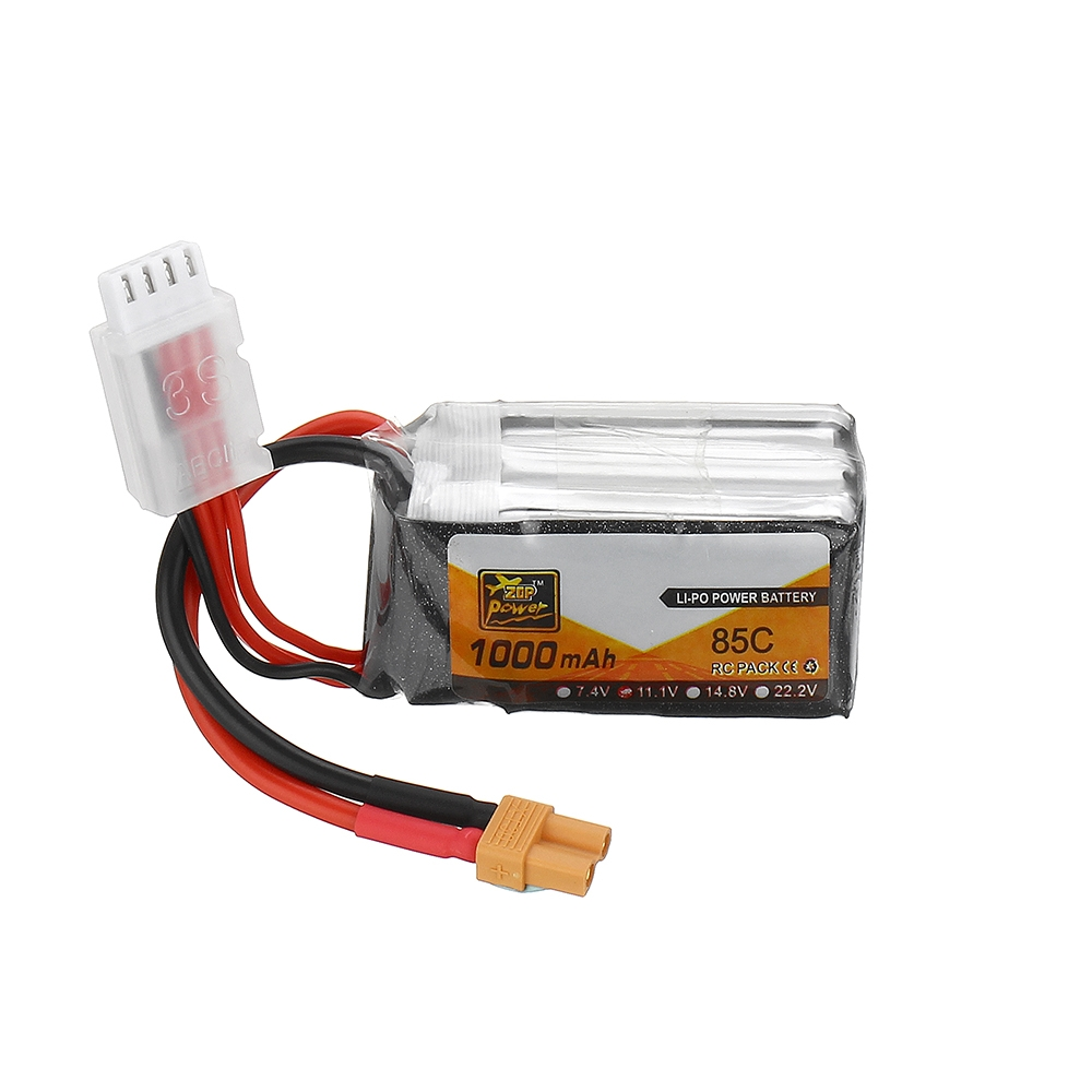 ZOP Power 11.1V 1000mAh 85C 3S Lipo Battery XT30 Plug for RC Racing Drone