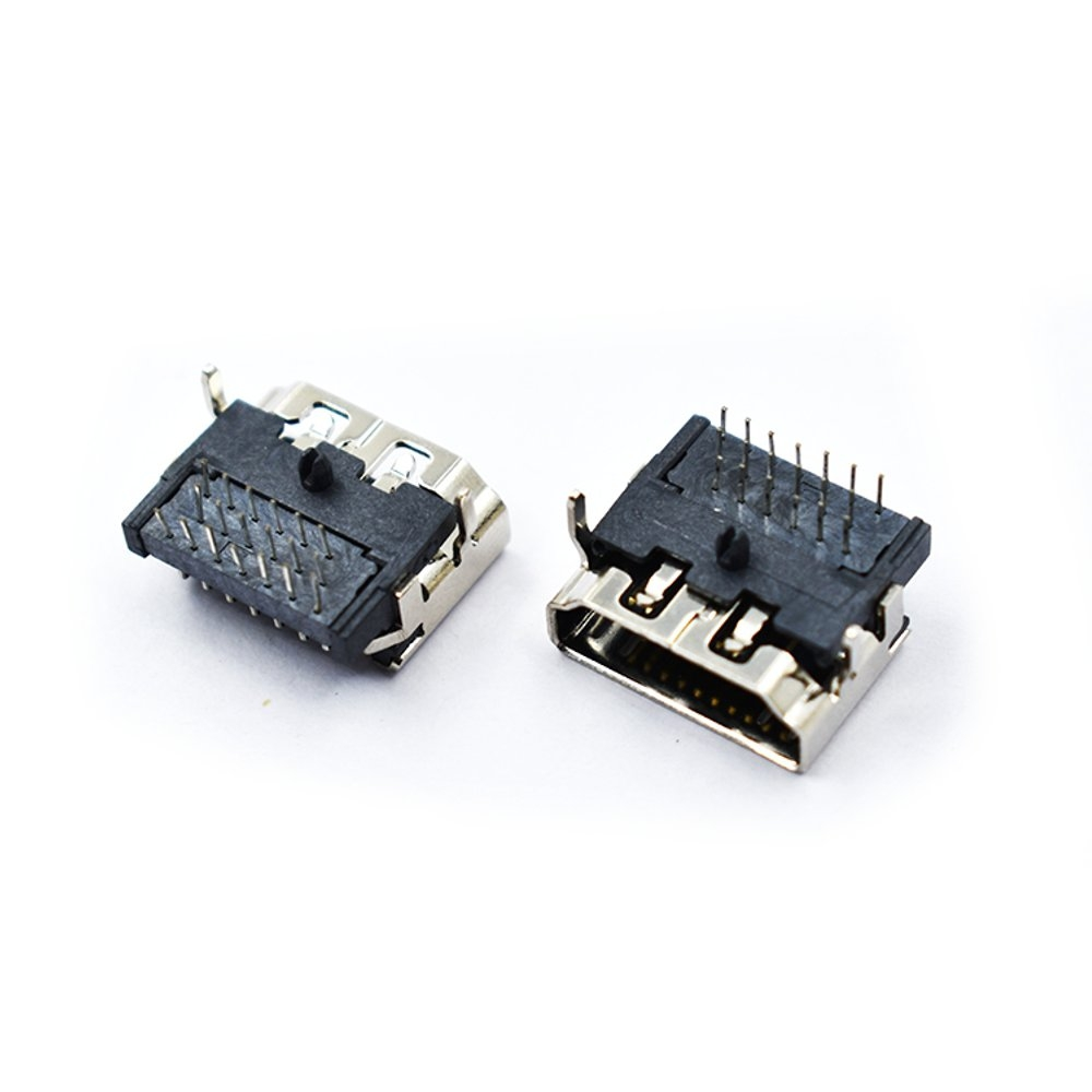 2PCS HD Port 19P Socket Female DIP 3-Row Pin Right Angle HD Connector For RC Models