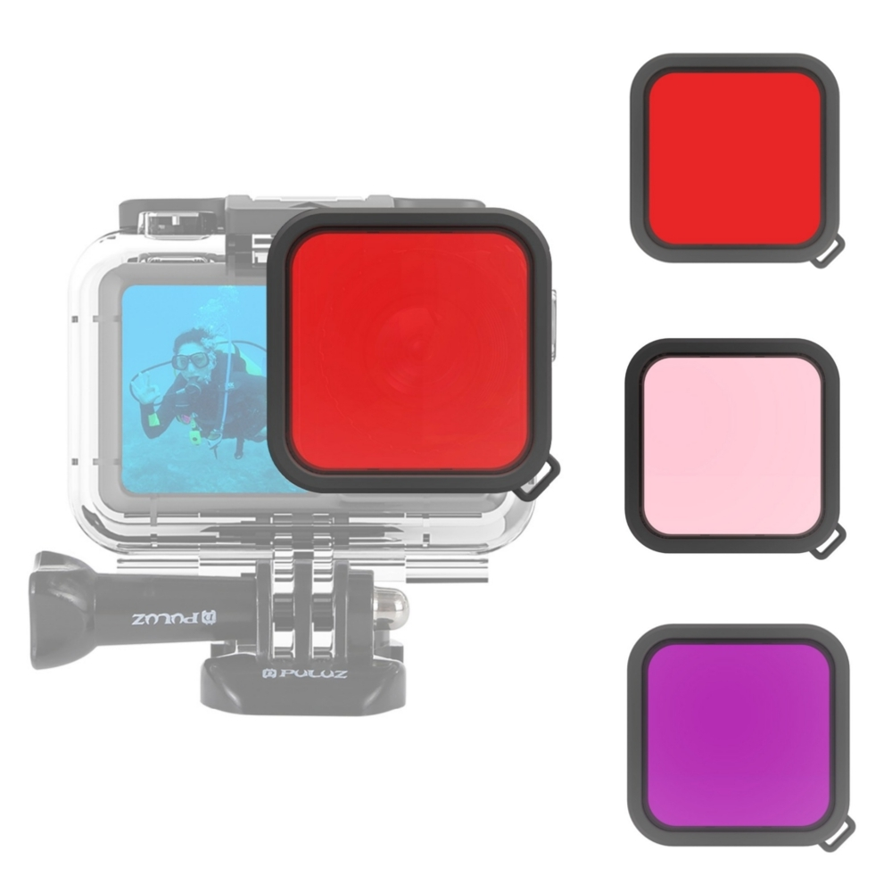 For DJI Osmo Action Camera PULUZ Housing Diving Color Lens Filter Accessories for Underwater Photography Tourist