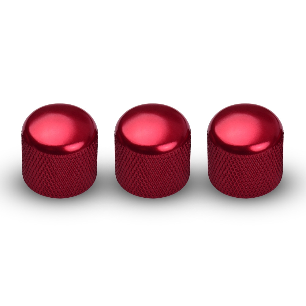 3PCS Electric Guitar Bass Replacement Parts Tone Volume Control Knobs Cap Guitar Parts