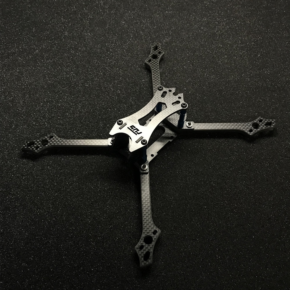 FUS Hydra 218mm Wheelbase 6mm Arm 3K Carbon Fiber 5 Inch Frame Kit for RC Drone FPV Racing