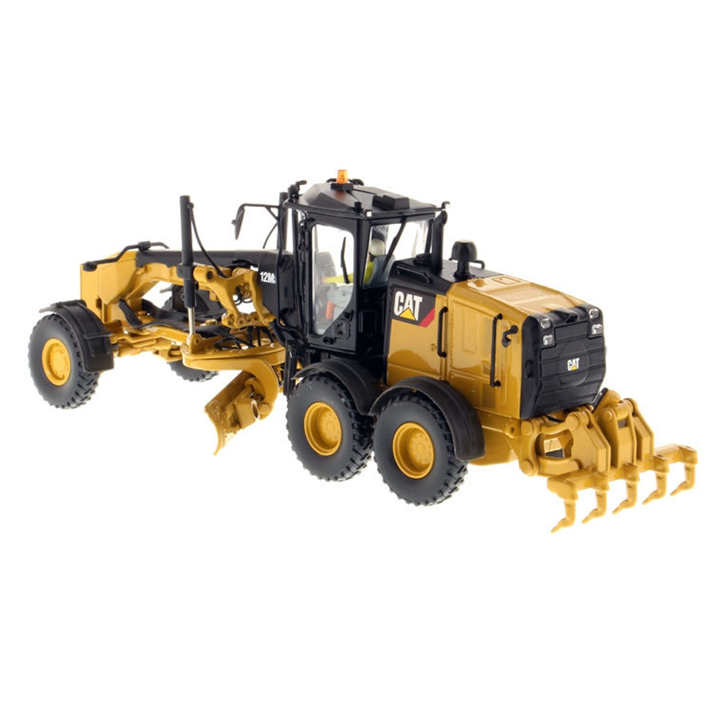 DM CAT 12M3 1/87 Motor Grader Self-propelled Construction Vehicle Diecast Model Toy