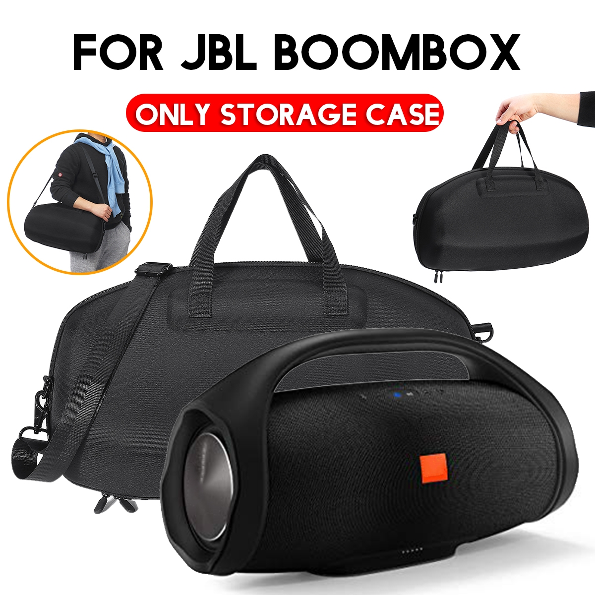 Portable EVA 1680D Oxford Cloth Storage Bag for JBL BOOMBOX Wireless Bluetooth Speaker