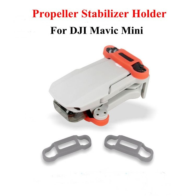 Quick Release Silicone Propeller Blade Paddle Fixed Holder Bracket Fixator Stabilizer for DJI Mavic Mini Drone