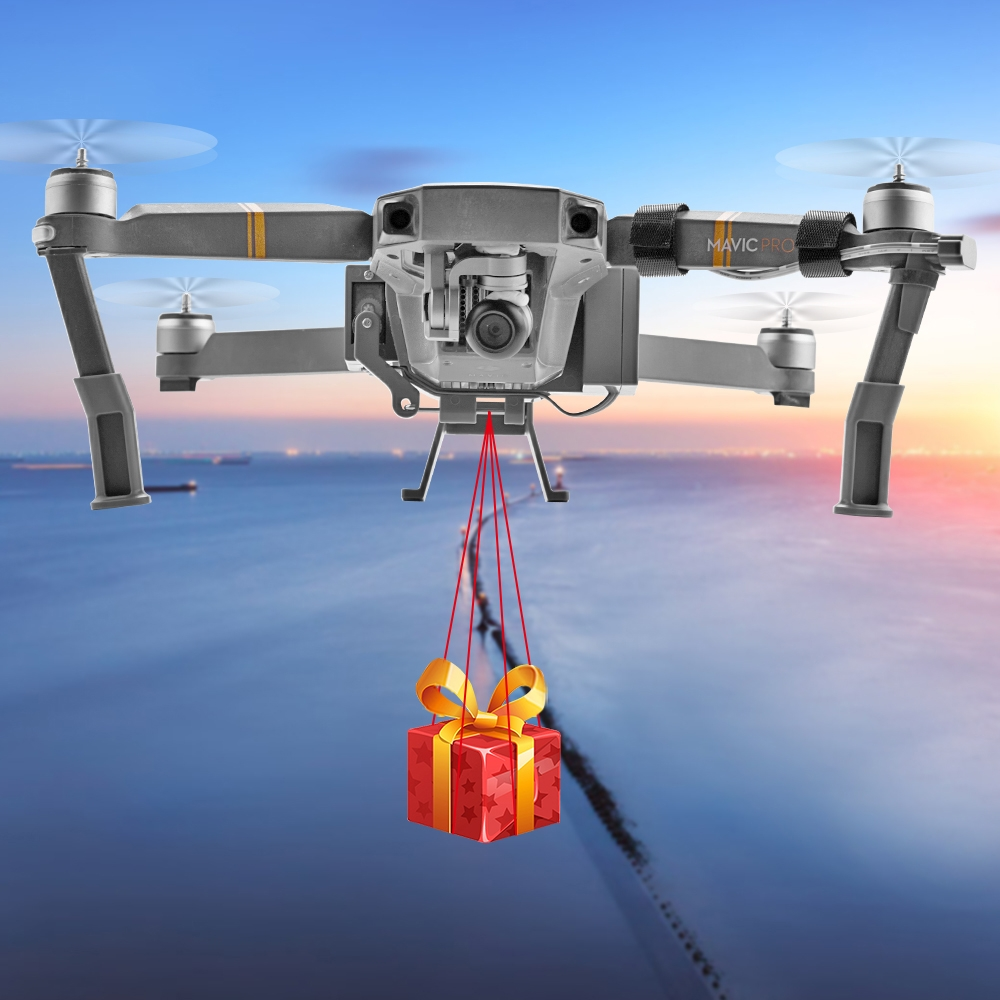 1Set Professional Wedding Proposal Delivery Device Dispenser Thrower Drone Air Dropping Transport Gift RC Quadcopter Parts for DJI Mavic Pro