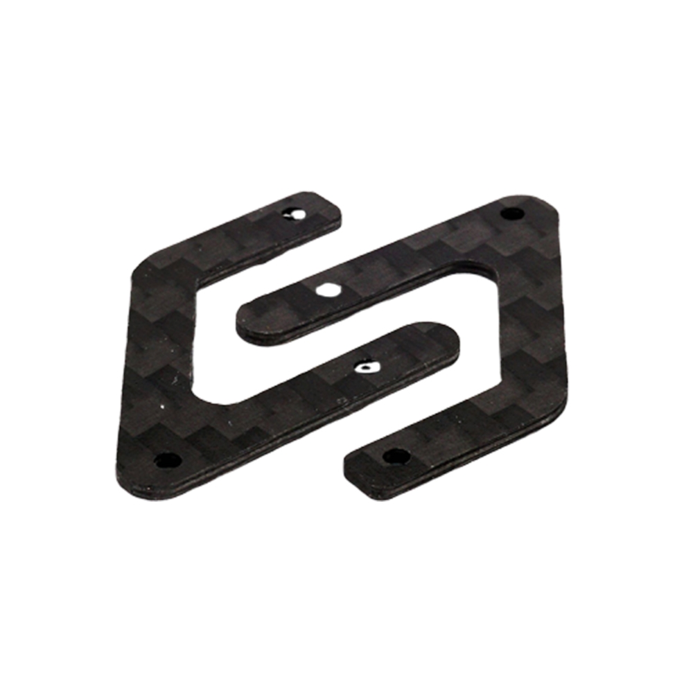 2PCS OMPHOBBY M2 RC Helicopter Parts Carbon Fiber Main Frame Rear Bracket Board