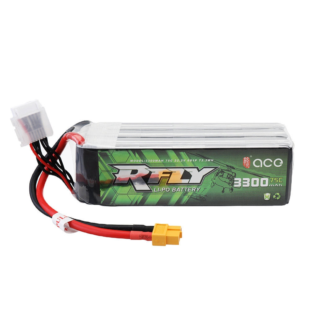 ACE RFLY 22.2V 3300mAh 75C 6S Lipo Battery XT60 Plug for KDS INNOVA 550 RC Helicopter