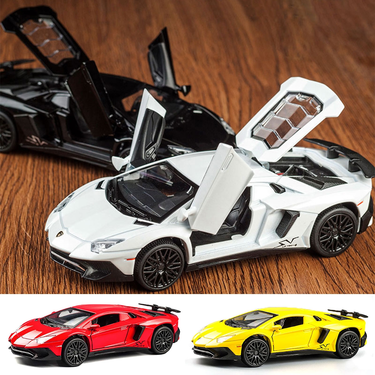 Alloy Metal Lamborghimi Aventador SV LP750-4 Car Diecast Model Car Toy for Children Gift