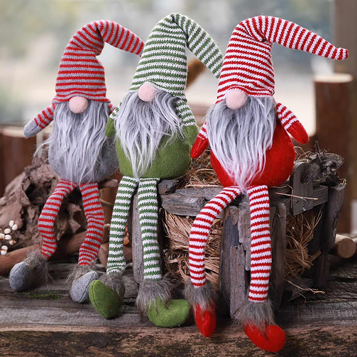 Non-Woven Hat With Long Legs Handmade Gnome Santa Christmas Figurines Ornament Decorations Toys