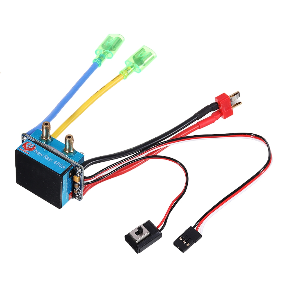 Brushed ESC 480A Water/Air Cooled Waterproof Double Side ESC For RC Boat