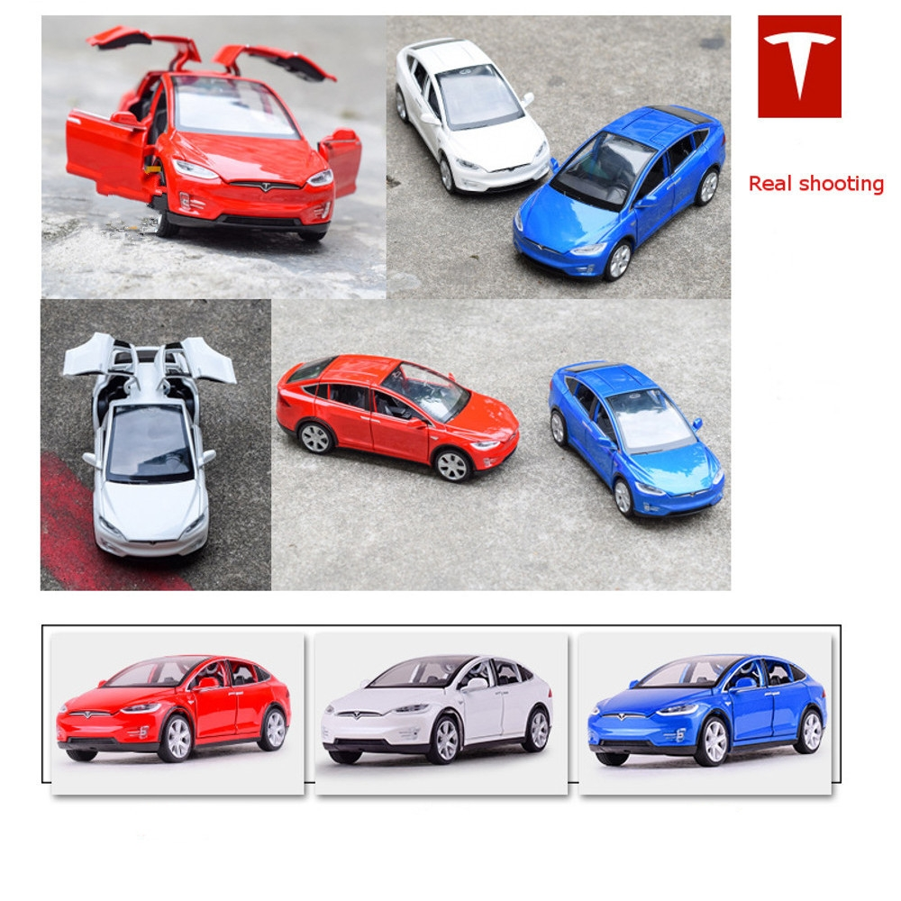 Baosilun1:32 Simulation Tesla MODEL X90 Alloy Car Model Children Sound And Light Toys