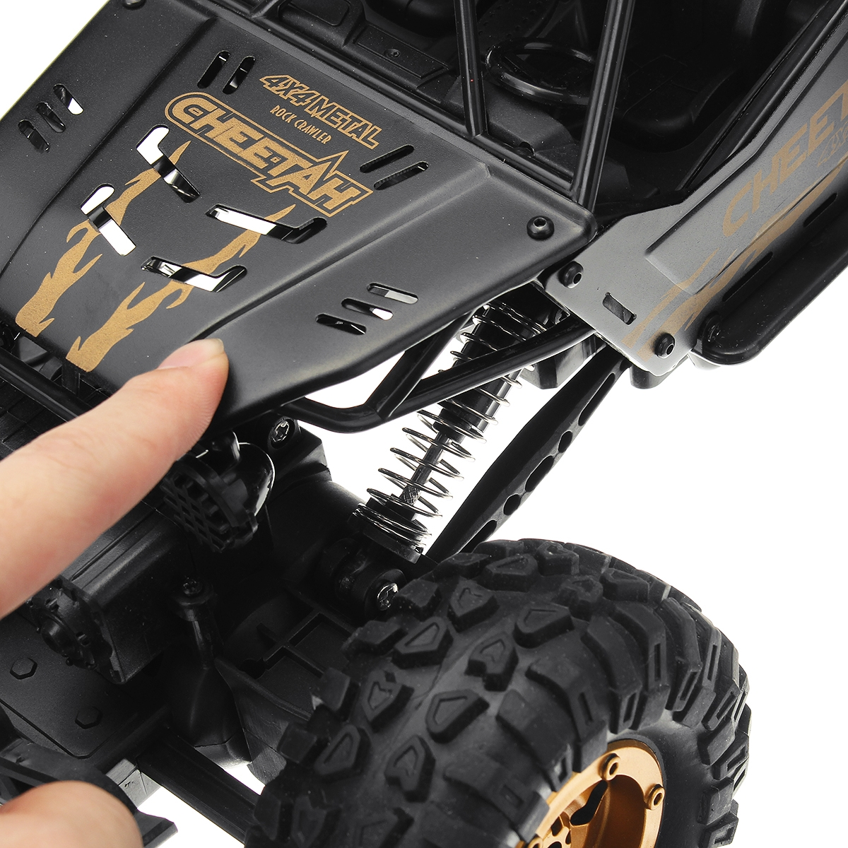 KYAMRC 1/12 2.4G 4WD RC Car Crawler Metal Body Vehicle Models Truck Indoor Outdoor Toys