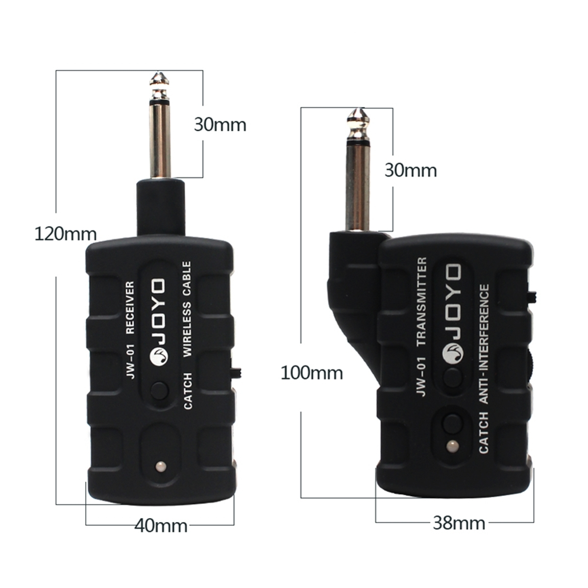 JOYO JW-01 Guitar Digital Wireless Cable Audio Transmitter Receiver Guitar Bass Keyboards Rechargeable Low Noise Portability