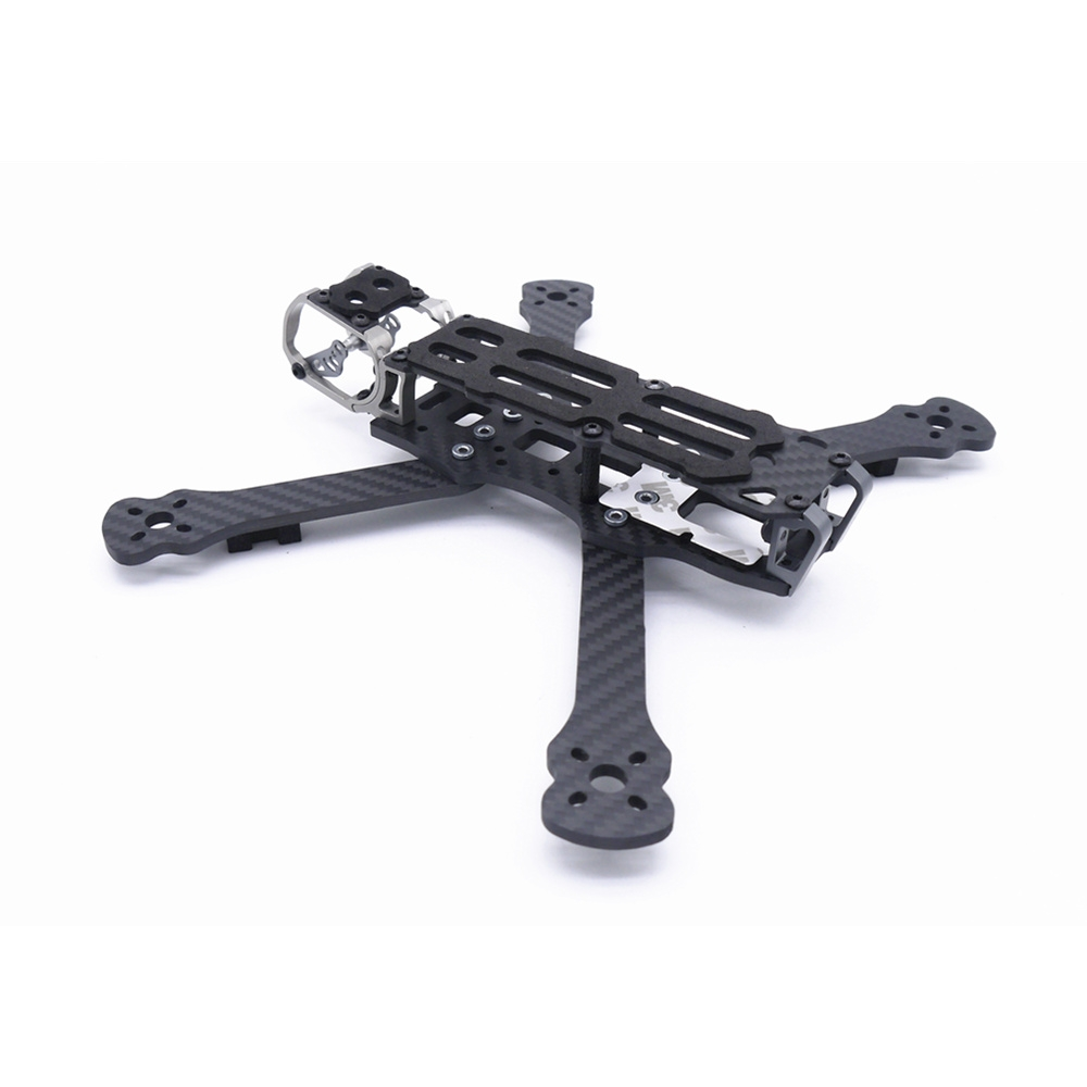 Fonster BB5 DJI Edition 5Inch Compressed X Carbon Fiber Quadcopter FPV Frame Kit 4mm Bottom Plate Compatible with DJI Air Unit