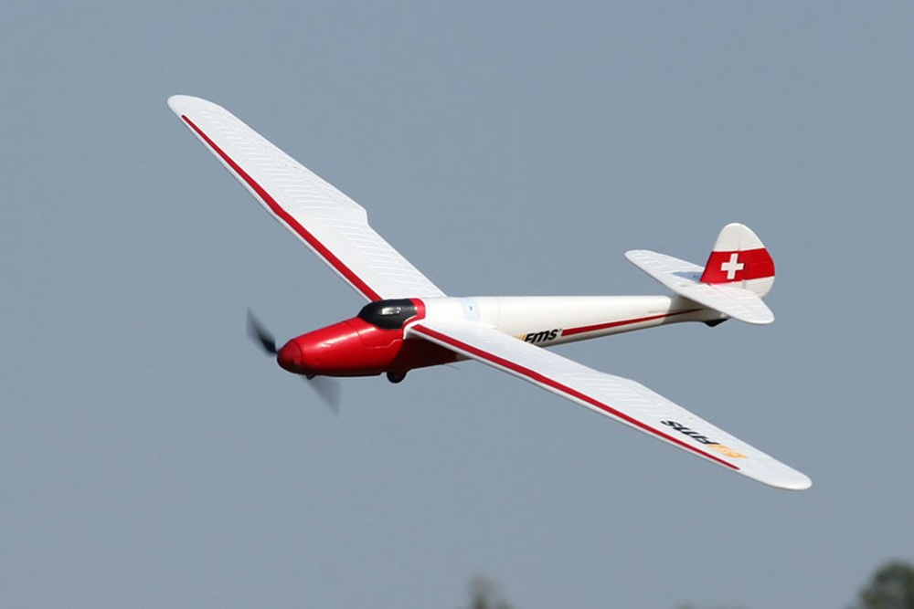 "FMS Moa Glider 1500MM (59.1"") Wingspan EPO Trainer Beginner RC Airplane PNP"