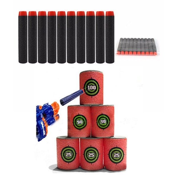 100PCS Refill Black Bullets Dart For Nerf N-strike Elite Rampage Retaliator Series Blasters