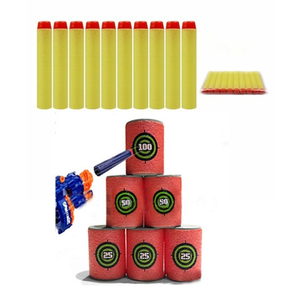 100PCS Refill Yellow Bullets Dart For Nerf N-strike Elite Rampage Retaliator Series Blasters