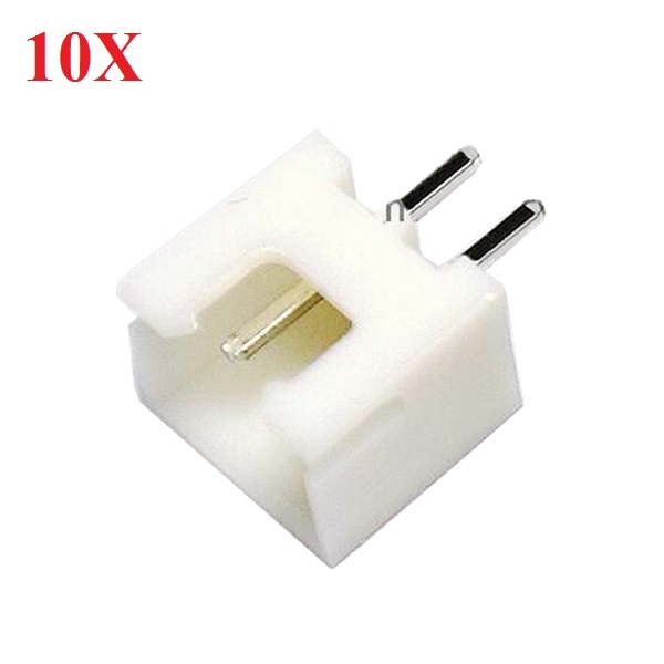 10X DIY Micro 1.25mm 2-Pin Male Straight Connector Plug