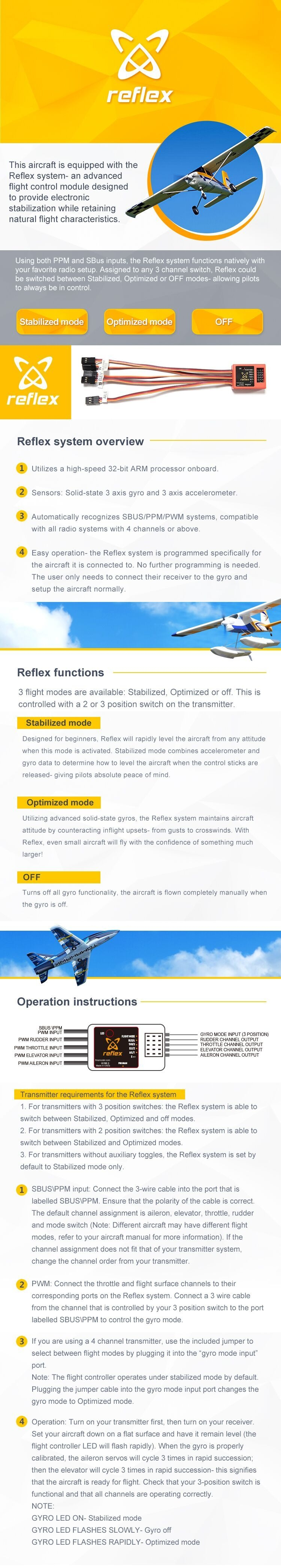 FMS SUPER EZ V4 1220MM Wingspan EPO Trainer Beginner RC Airplane RTF with Floats & Reflex Flight Control System