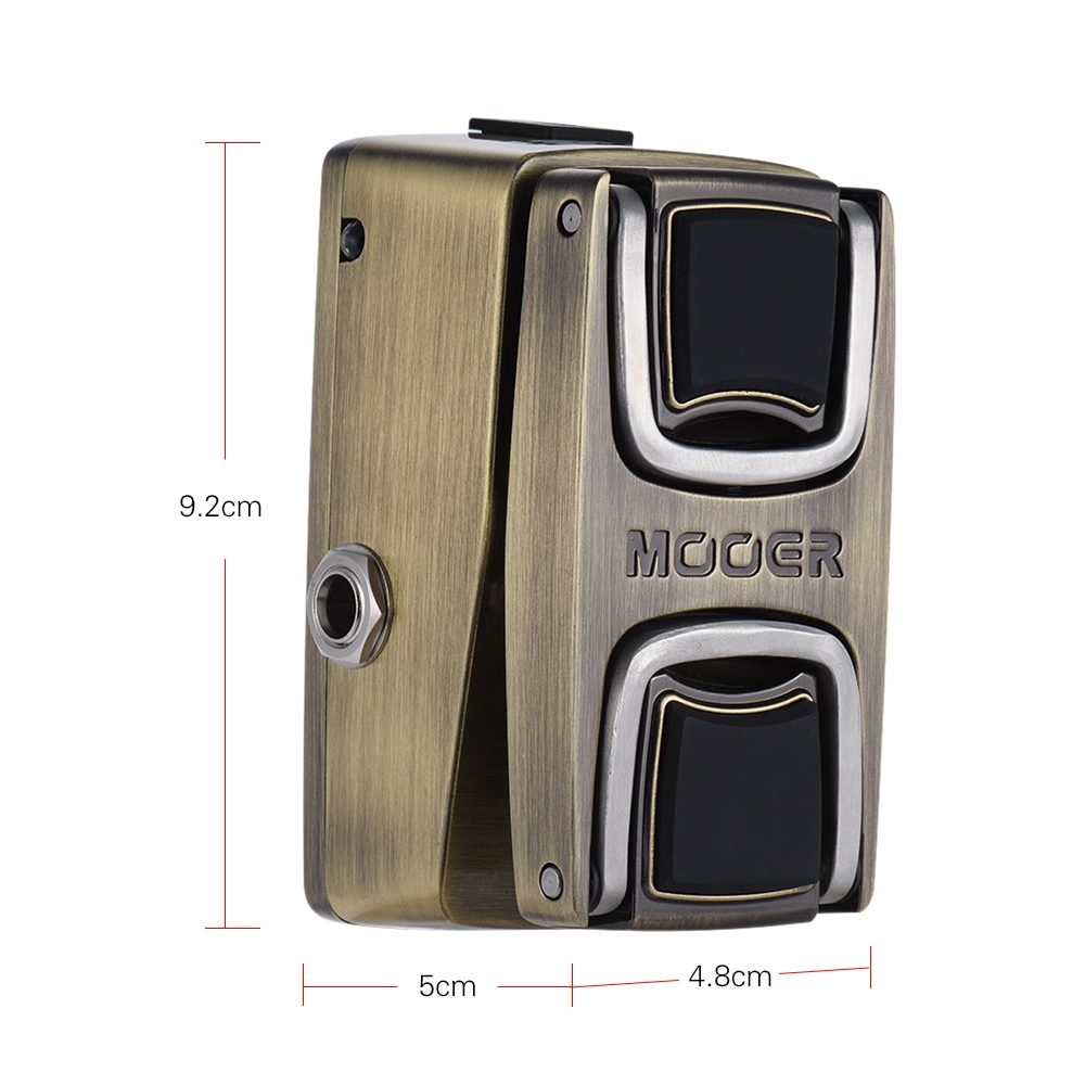 MOOER The Wahter Wah Guitar Effect Pedal Pressure Sensing Switch Full Metal Shell Guitar Parts & Accessories