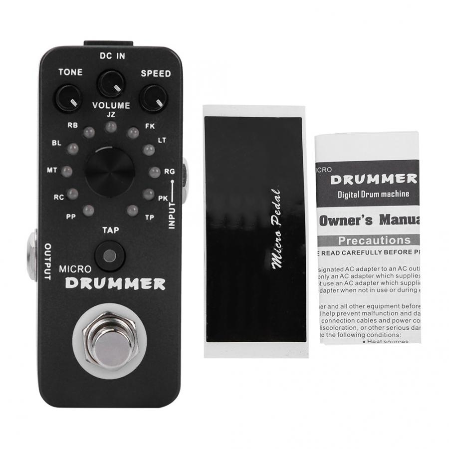 MOOER MICRO DRUMMER Guitar Pedal Digital Drum Machine Guitar Effect Pedal With Tap Tempo Function True Bypass Full Metal Shell