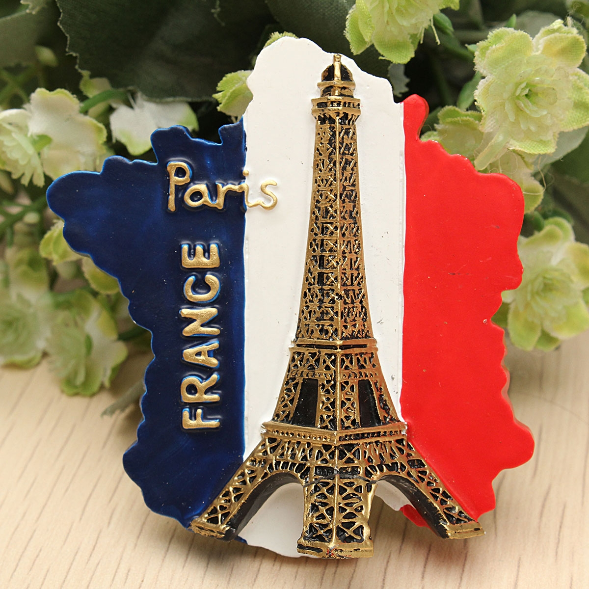 Tourist Souvenir Favorite Travel Resin 3D Fridge Magnet Eiffel Tower