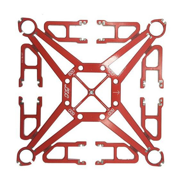 122mm 1.2mm 10g DIY Micro Mini PCB RC Quadcopter Frame Kit Support 8.5x20mm 820 Coreless Motor