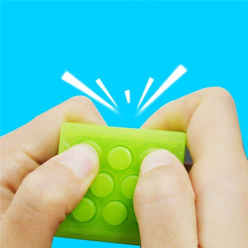 Puchi Stress Reliever Squeeze Bubble Packing Crazy Gadget Endless Pop Pop Wrap Key Chain