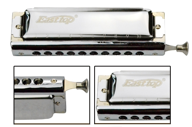Easttop 10 Holes 40 Tones Advanced Chromatic Harmonica T10-40