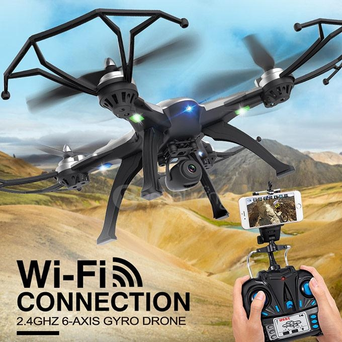 JJRC H25W 0.4MP WIFI Camera 2.4Ghz 4CH 3D Tumbling CF Mode LED Control Mode 2 RC Quadcopter RTF - Gray