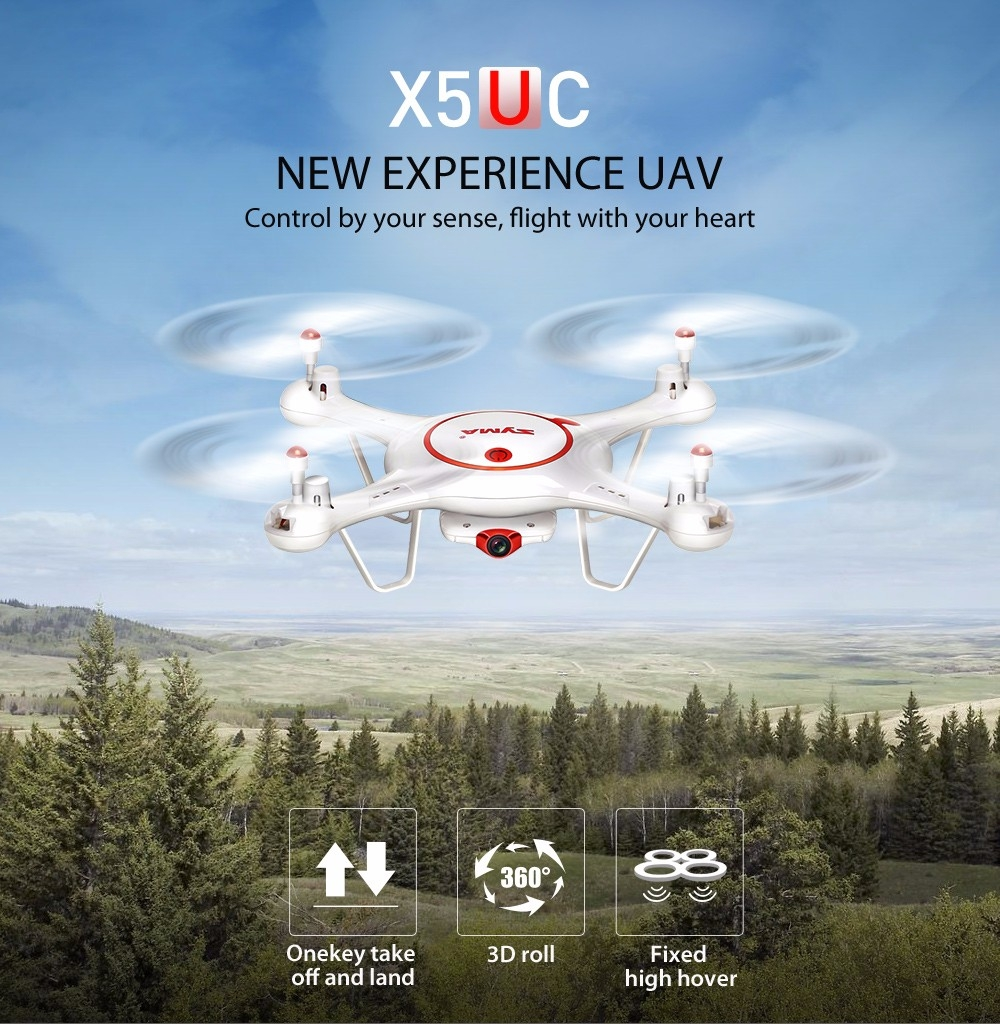 SYMA X5UC With 2MP HD Camera With Altitude Mode 2.4G RC Quadcopter RTF