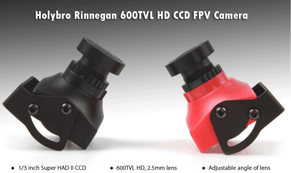 Holybro Rinnegan 600TVL PAL/NTSC Switchable HD CCD 2.5mm Lens FPV Camera for Shuriken X1 180 PRO