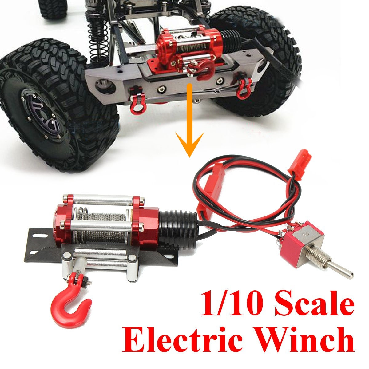 Winch Traction All Metal Type A For 1/10 RC Crawlers YA-0386 RC Car Part Accessories
