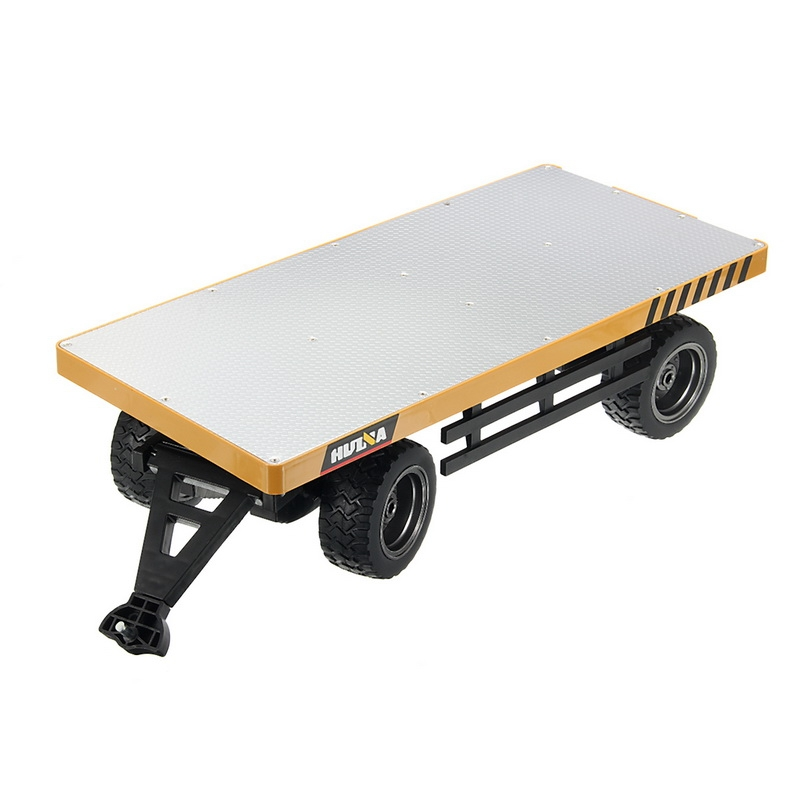 HuiNa 578 1/10 Flatbed Trailer Die Cast Alloy Metal Plastic Toy Car Gift Collection