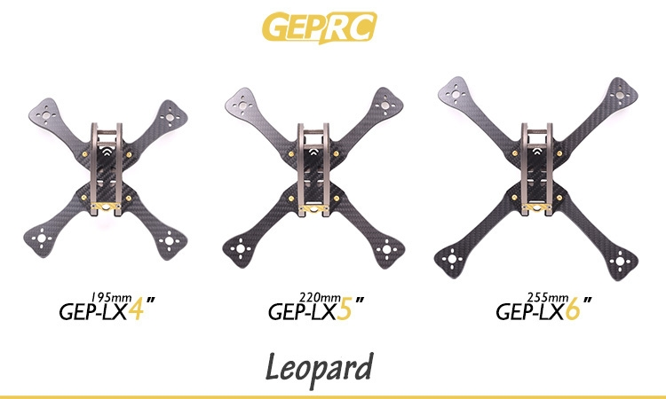 GEPRC GEP LX Leopard LX4 LX5 LX6 195mm 220mm 255mm FPV Racing Frame 4mm Arm With PDB 5V & 12V