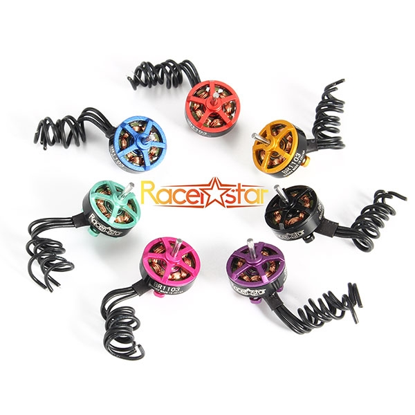 20X Racerstar Racing Edition 1103 BR1103 8000KV 1-2S Brushless Motor Gold For 50 80 100 FPV Frame
