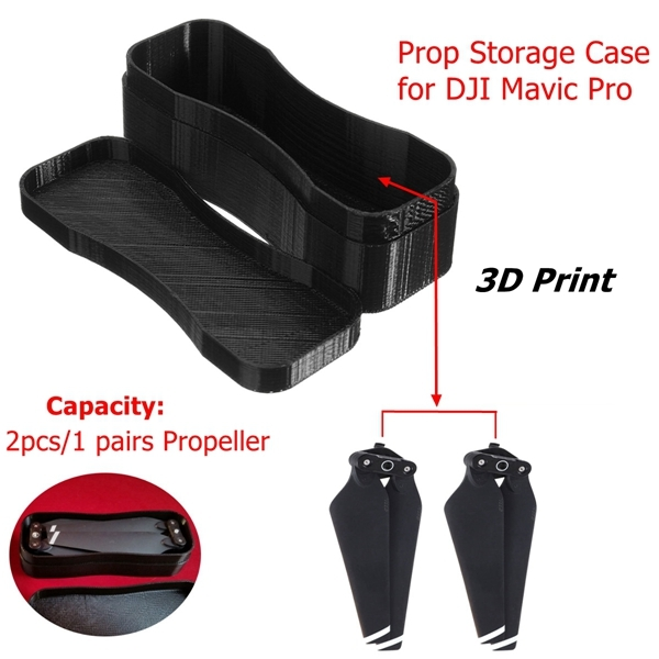 3D Printed Propeller Prop Storage Carry Case Protector Hard Portable Box For DJI Mavic Pro