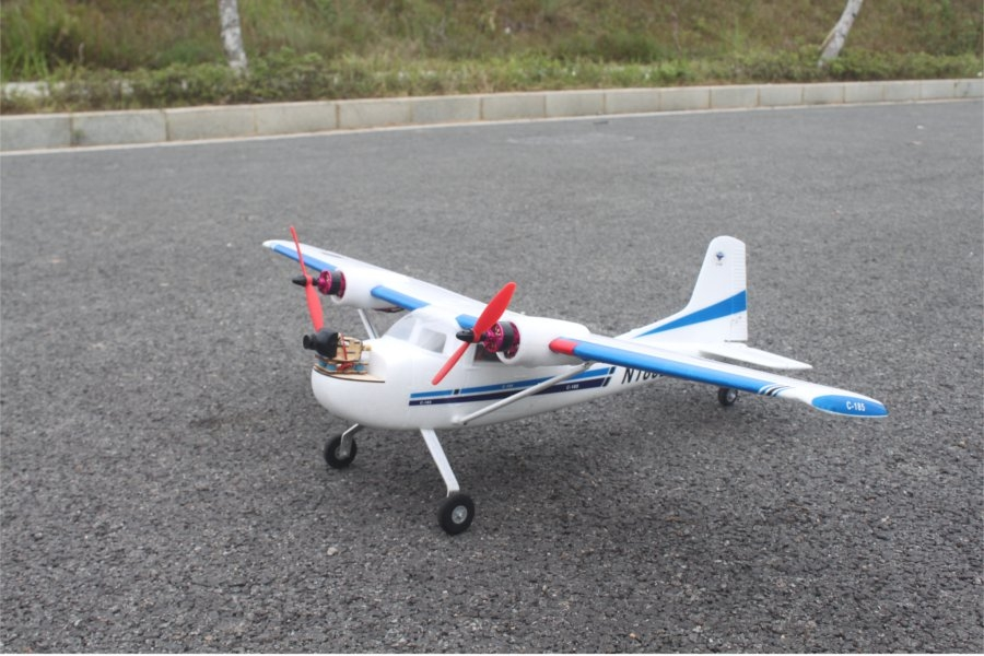 Mini Twin-Engined 185 928mm Wingspan EPO RC Airplane FPV Aircraft KIT